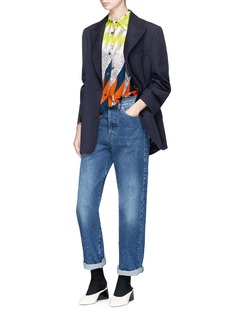 Dries Van Noten 'Colette' geometric print crepe shirt