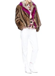 Dries Van Noten 'Rimbald' faux fur jacket