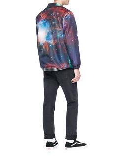 Stereo Vinyls Galaxy print coach jacket