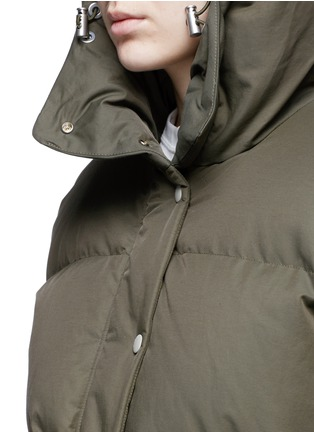 Detail View - Click To Enlarge - rag & bone - 'Leonard' lace-up outseam hooded down puffer coat