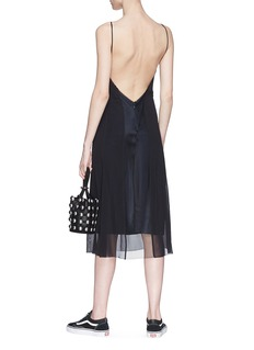 rag & bone 'Louise' open back silk slip dress