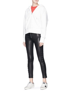 rag & bone/JEAN 'Kiku' lace-up outseam lambskin leather pants