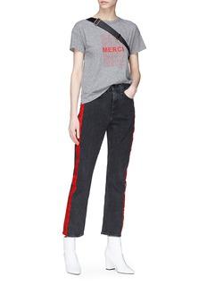 rag & bone/JEAN 'Straight' stripe outseam jeans
