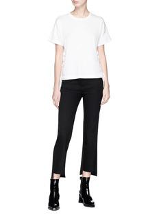 rag & bone/JEAN Lace-up hem T-shirt