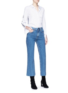 rag & bone/JEAN 'Ankle Justin' high rise cropped wide leg jeans
