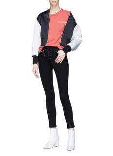 rag & bone/JEAN 'Gia' lace-up skinny jeans