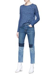 rag & bone/JEAN 'Amelie' marl ribbed sleeve T-shirt