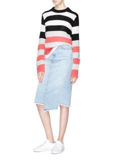 rag & bone/JEAN 'Sakato' frayed asymmetric hem denim skirt