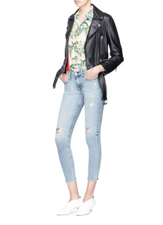 rag & bone/JEAN Distressed cropped skinny jeans