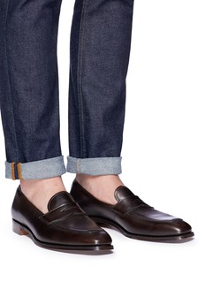 Foster & Son 'Aston' calfskin leather penny loafers