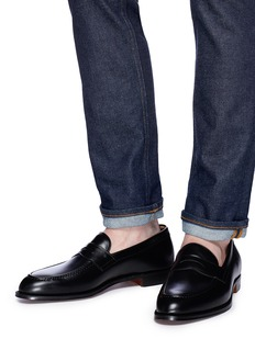 Foster & Son 'Monet' calfskin leather penny loafers