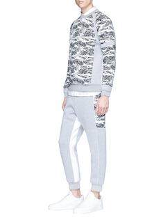 MASS 'Array III' knit panel neoprene sweatshirt