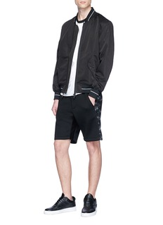MASS 'Array II' knit panel neoprene sweat shorts