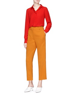 Victoria Beckham Cropped wide leg cady pants