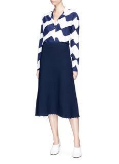 Victoria Beckham 'Flessage' scalloped hem midi dress