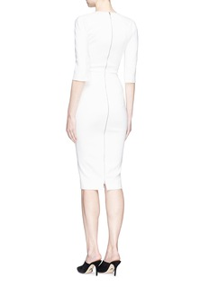 Victoria Beckham Button cuff fitted cady dress