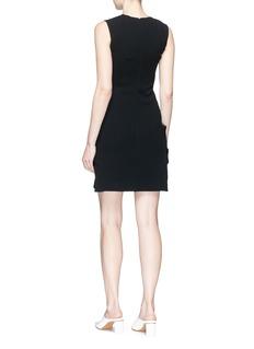 Victoria Beckham 'Matt' pleated pocket sleeveless suiting dress