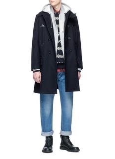 Sacai Oversized zip hoodie