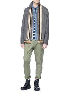 Sacai Embellished placket wool coach jacket