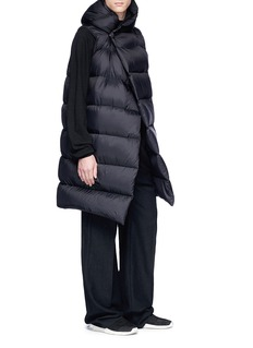 Rick Owens Hooded down puffer vest
