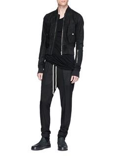 Rick Owens Virgin wool-silk jogging pants