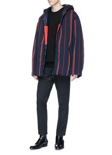 Dries Van Noten 'Volta' stripe twill oversized padded jacket