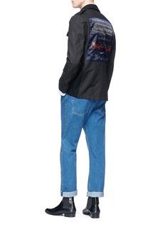 Dries Van Noten 'Bandana' fox patch melton shirt jacket