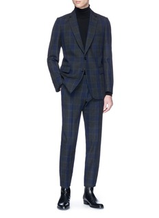 Dries Van Noten 'Kline' check plaid wool twill suit