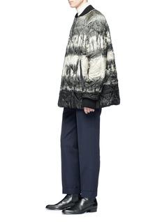Dries Van Noten 'Viktor' llama print oversized quilted bomber jacket