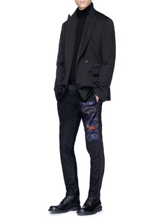 Dries Van Noten 'Payson' logo patch quilted outseam jogging pants