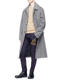 Dries Van Noten 'Payson' logo patch stripe jogging pants