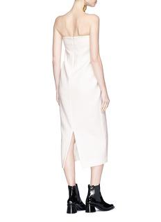 Elissa McGowan 'Hepworth' cutout front strapless crepe midi dress
