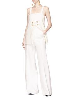Elissa McGowan 'Naturalist' lace-up split front camisole top