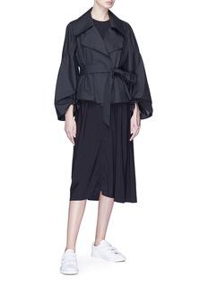 ual: central saint martins | PHVLO Belted detachable sleeve jacket