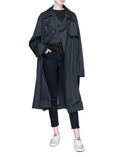 ual: central saint martins | PHVLO Detachable shoulder bag belted trench coat