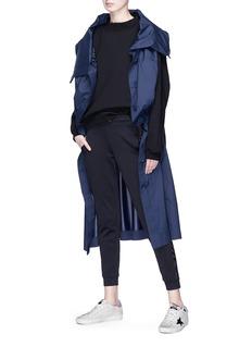 ual: central saint martins | PHVLO Convertible drawcord maxi coat dress