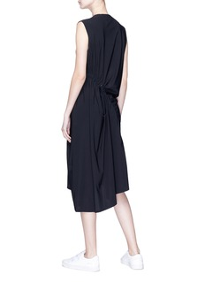 ual: central saint martins | PHVLO Drawcord ruched jersey midi dress
