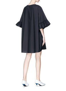 Xiao Li 光泽感项链图案荷叶边连衣裙