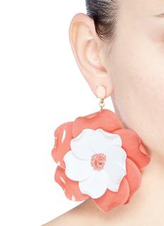 Oscar de la Renta Petunia petal short drop earrings