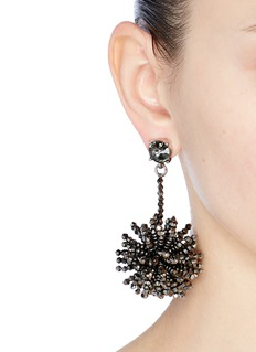 Oscar de la Renta Beaded firework drop earrings