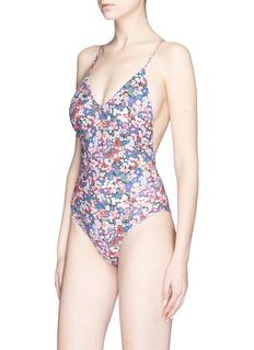 Ephemera 'Liberty' lace-up back one-piece swimsuit