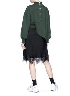 Ground Zero Drape sweatshirt panel silk crepe dress