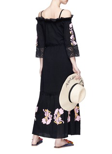 Figue 'Noelle' floral embroidered off-shoulder maxi dress