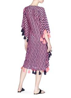 Figue 'Amrita' tassel wavy stripe print kaftan