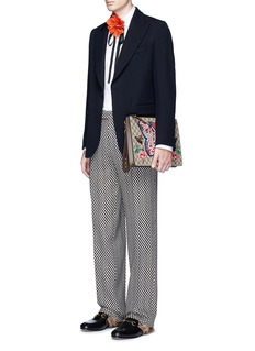 Gucci Geometric jacquard wide leg wool pants