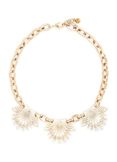 LULU FROST 'Alesia' freshwater pearl floral chain necklace