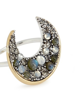 Detail View - Click To Enlarge - Lulu Frost - 'Laumière' Swarovski crystal gemstone crescent ring