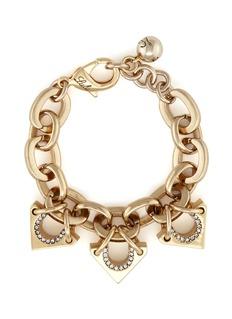 Lulu Frost'Avron' crystal pavé cutout triangle charm bracelet
