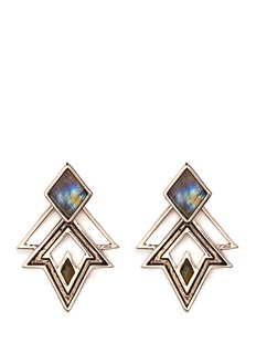 Lulu Frost 'Trocadero' mix gemstone geometric cut-out earrings
