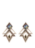 'Trocadero' mix gemstone geometric cut-out earrings